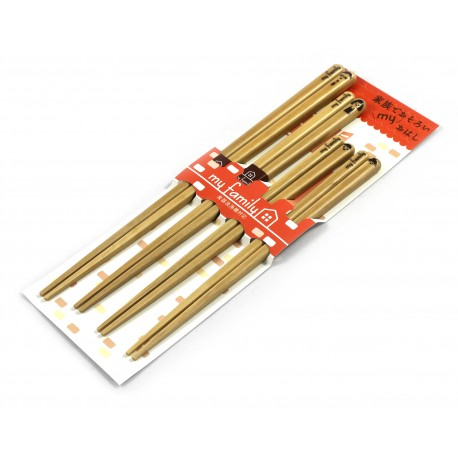 Eco-friendly wooden and natural reusable Chopsticks Gift Set - 5 pairs