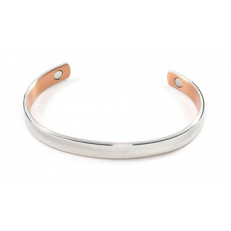 MR001 Magrelief bracelet, Brush silver with gold