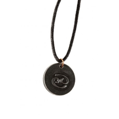 Pressed Iron Zodiac sign necklace Virgo from North-Europe